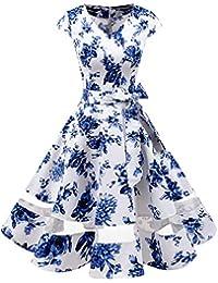 Gardenwed Annata 1950 retrò Rockabilly Polka Vestito da Audery Swing Abito  da Cocktail Partito con Maniche 893477e774c
