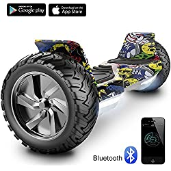 "Cool&Fun 8.5"" Balance Board Scooter Patinete Hummer SUV 700W Eléctrico Bluetooth App Self Balancing(Hiphop)"