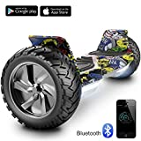 Cool&Fun 8.5' Balance Board Scooter Patinete Hummer SUV 700W Eléctrico Bluetooth App Self Balancing(Hiphop)