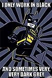 Lego Batman - Meme - Kino Film Poster Plakat Druck - Größe 61x91,5 cm + 2 St Posterleisten Kunststoff 62 cm schwarz