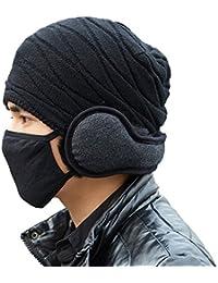 SIGGI warme Wolle Ohrwärmer mit Pelz für Herren Winter Ohrenschützer Ohrenwützer