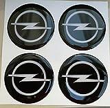 50mm schwarz Tuning Effekt 3d 3m geharzt Radkappen Nieten Caps Aufkleber Stickers für Alufelgen X 4Stück