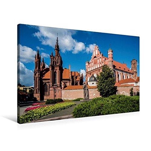 Calvendo Premium Textil-Leinwand 90 cm x 60 cm quer, Altstadt von Vilnius - Litauen | Wandbild, Bild auf Keilrahmen, Fertigbild auf echter Leinwand, Leinwanddruck Kunst Kunst