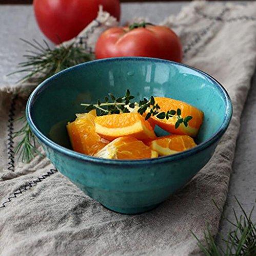 Salade de fruits Bol de salade de fruits japonais bol de céréales bol de nouilles Assiette de salade (taille : 14 * 7.5cm)