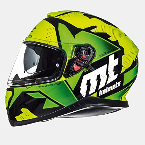 MT - Casco Integral THUNDER 3 SV TORN GLOSS Verde (XL)