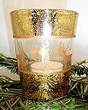 1a PartyLite p90326 WEIHNACHTEN Votivkerzenhalter GOLD - Christmas --- Votivkerzenglas --- gold