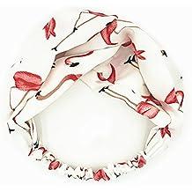 MultiKing Fasce per capelli Turbante accessori headband Primavera ed estate  stampa lato largo croce elastico bianco bd29fc99e998