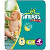 Maxi + Petit pack de 18 couches pour Pampers Baby Dry taille (pack de 3 x 18)