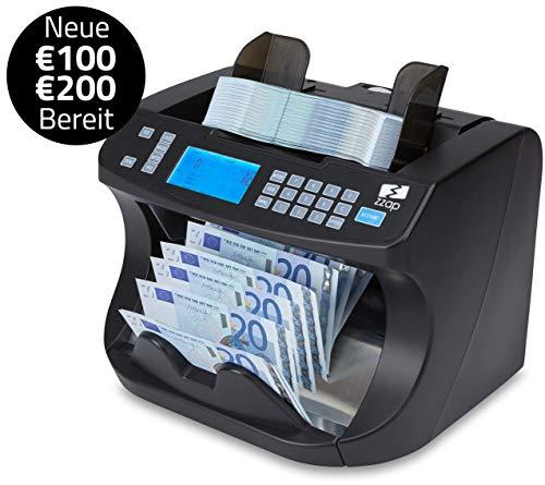 ZZap NC40 Banknotenzähler & Falschgeld-Detektor - Geldzählmaschine Geldzähler Banknotenzählmaschine