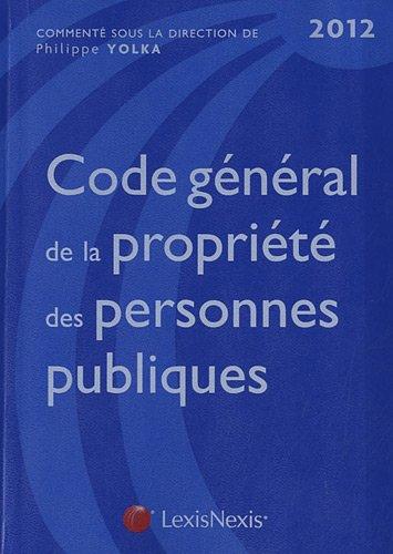 Code gnral de la proprit des personne publiques 2012