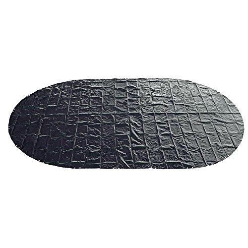 Abdeckplane 200g/m² blau/schwarz für 8,55 x 5,00 m Oval-/Achtform Pool