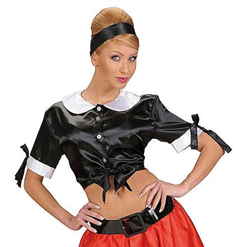 Retro-Top für Damen, bauchfrei, Verkleidung für Fasching, Karneval, 50er 60er Jahre, Größe XL