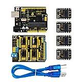 keyestudio CNC DIY Kit GRBL CNC Shield V3 mit 4 DRV8825 Treiber, Stepper Motor Treiber, UNO R3 Controller für Arduino
