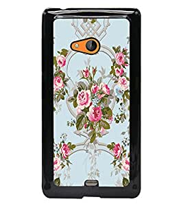 PrintDhaba Flowers D-2461 Back Case Cover for MICROSOFT LUMIA 540 (Multi-Coloured)