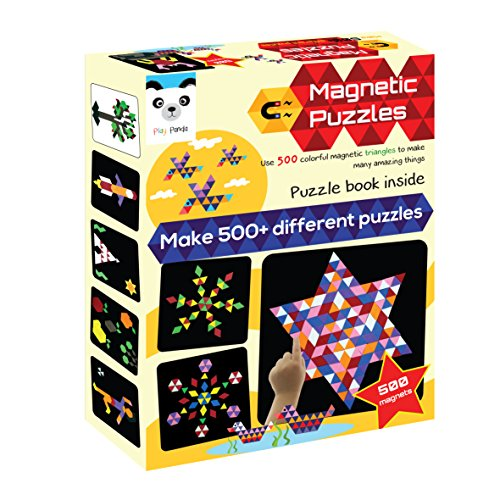 Play Panda Magnetic Puzzles : Triangles (500 Colorful Magnets) (Medium)
