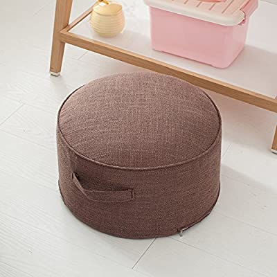 Thickened Round Seat Cushions for Kitchen Chairs,Linen Pad Thickened Round Seat Washable Chair Pad For Floor Kitchen Bedroom Kids Room