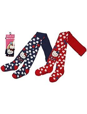 Leotardos para niña de Hello Kitty con corazones