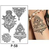 Modeganqing 5 Pezzi Tatuaggio Adesivo Fiore Animale Impermeabile Uomo e Donna P 5X-in Tattoo Om P-58 15 * 21 cm