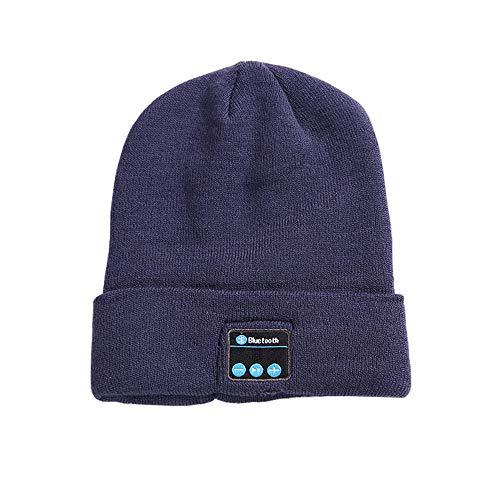 QAQ Bluetooth-Hut,Drahtloses Headset Bluetooth-Kappe,Winter Warm Bleiben Mütze Stricken, Outdoor-Sportarten, Skifahren, Eislaufen, Laufen, Wandern, Radfahren,Gray*2