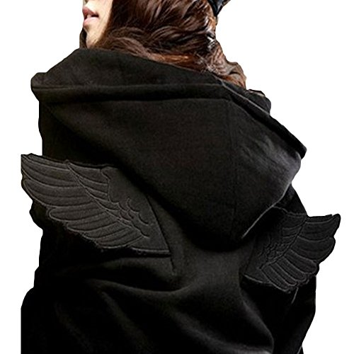 hqclothingbox Women Hit 3D Angle Wings Hoodies Hooded Causal Full sleeve Cadigan Plus Size Sweatshirts (Hooded Carhartt Jungen Zip)
