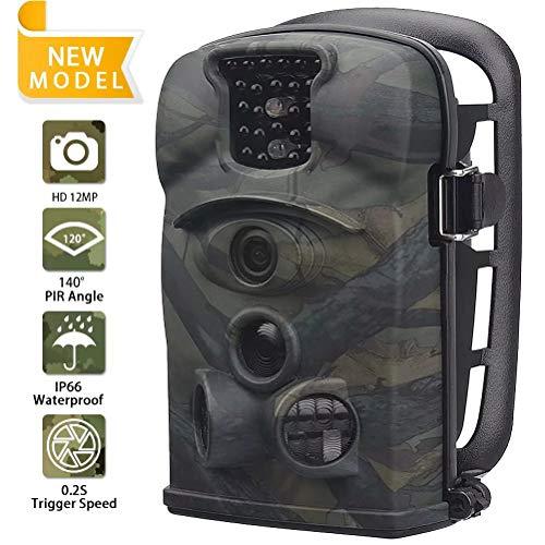 DZSM Im Freien Wasserdichte Jagd Trail Game Kamera mit 140 Grad Weitwinkel und 3 PIR Sensor 24pcs Low Glow IR LEDs Digital Überwachungskamera