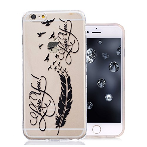 iPhone 7 Coque, Aeeque Fleurs de Dentelle Blanc Dessin Transparent Crystal Silicone Doux TPU Protection Contre les Chutes Case Cover Housse Etui pour iPhone 7 4.7 pouce Motif #14