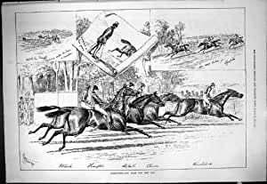 Copie Antique du Sport 1877 de Charon Winchilsea Petharch Hampton d'Alouette de Course de Chevaux de Goodwood