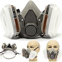 Máscara de gas antipolvo industrial químico accesorios para pintura, polvo, productos químicos, pulido a máquina, soldadura, pesticidas y otros protectores de trabajo, blanco