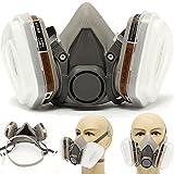 Máscara de gas, 6200 respirador, media máscara con filtros reemplazables,...