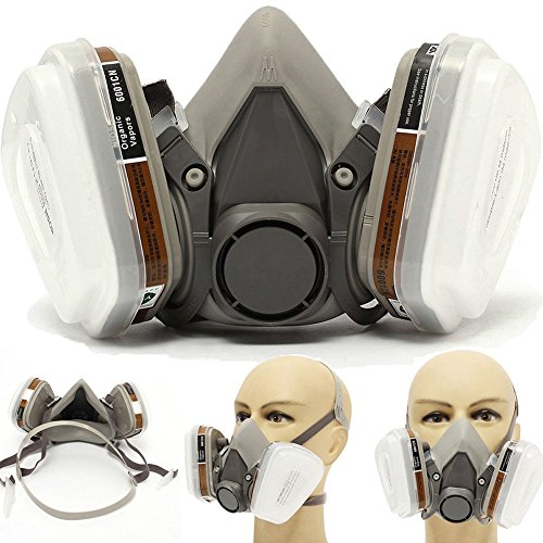GAS Maske Anti-Staub Spray Paint Industrie chemischen Atemschutzmaske 6200Halbmaske Zubehör Tintenpatrone Filter, weiß