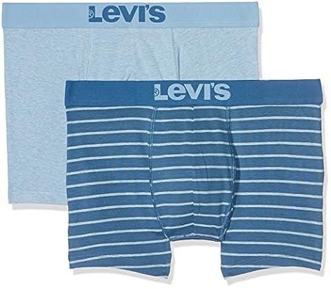 Levi's Levis 200SF Vintage Stripe 0312 Boxer Brief, Pantalon Homme, Blue (Dark Blue), X-Large (lot de 2)
