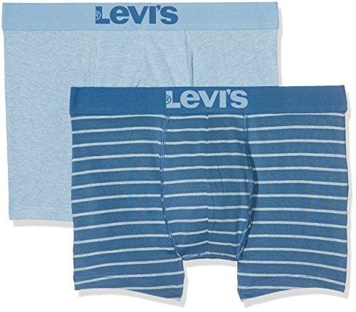 Levi's Herren Boxershorts Levis 200sf Vintage Stripe 0312 Boxer Brief 2p, 2er Pack Blau (dark Blue 264)