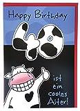 A4 XXL Geburtstagskarte 40 lustig