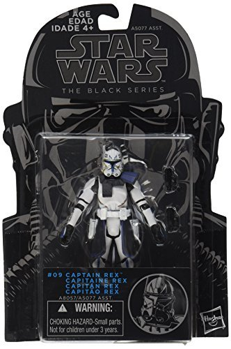 Series, Clone Wars Captain Rex Action Figure #09, 3.75 Inches by Star Wars (Rex Clone Wars)