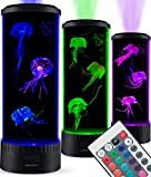 SensoryMoon Ampliación de Led Lámpara de Lava Medusas Acuario Medusas eléctrico Ronda Tanque Ligero Estado,Cambio de Color a Distancia,Ocean Wave proyector Plug In luz de la Noche de los niños Negro