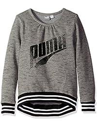 PUMA Girls' Grey Long Sleeve Sweatshirt