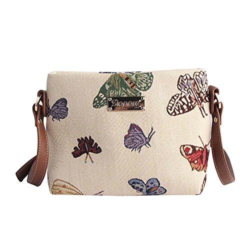 Signare sac de messager sac porté-croisé d'épaule tapisserie mode femme Papillon