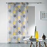 Douceur d 'Intérieur Gardinen mit Ösen, Polyester, Polyester, gelb, 240x140 cm