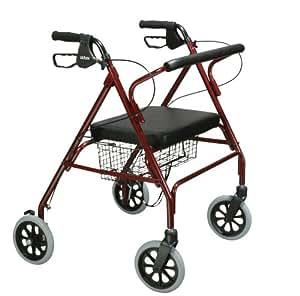 'Faltbarer Rollator Leichtgewicht Rollator für Behinderte Lauflernhilfe mit Rollen 6PVC