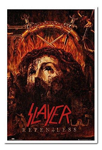 Slayer Repentless poster sughero Pin Lavagnetta Bianco Con cornice-96.5x 66cms (circa 96,5x 66cm)