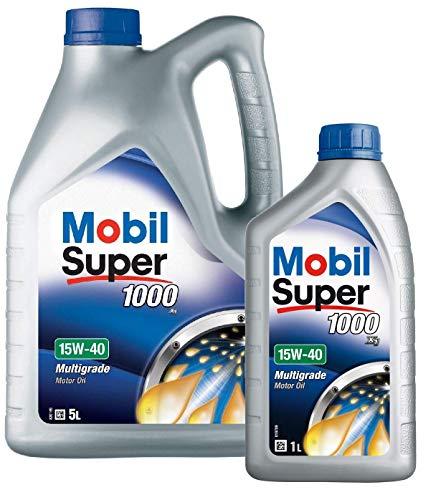 Mobil 151180 Super 1000 X1 - Olio Motore 15W-40, Confezione da 6 Lit