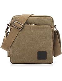 Outreo Bolso Bandolera Hombre Pequeñas Bolsos de Tela Vintage Messenger Bag para Colegio Bolsa de Lona Universidad Libro Bolsos Originales Bolsas de Viaje Sport Bag