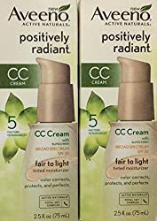 NEW* 2 AVEENO ACTIVE NATURALS POSITIVELY RADIANT CC CREAM SPF 30 FAIR TO LIGHT