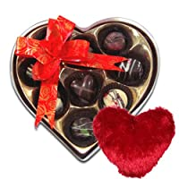 Chocholik 9Pc Mini Love Chocolates With Heart Pillow - Valentine Special Love Gifts