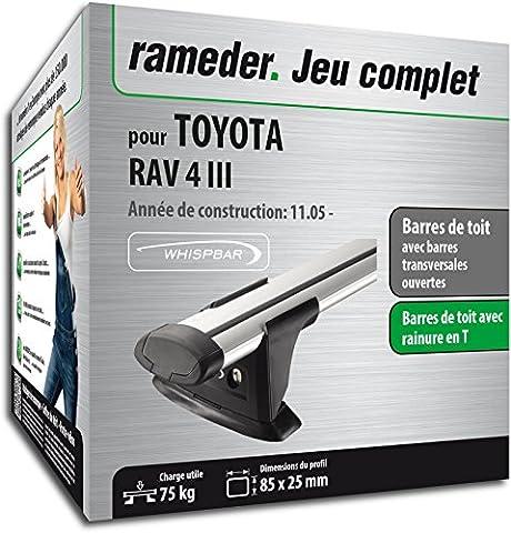 Pack Rameder barres de toit Through pour TOYOTA RAV 4 III (119938-05508-113-FR)