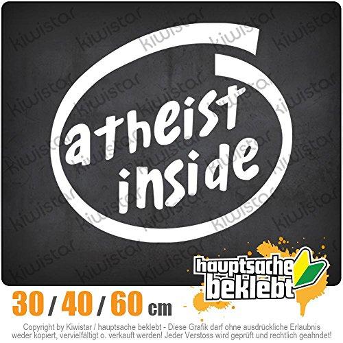 KIWISTAR - Atheist Inside Heckscheibe in 15 FARBEN Aufkleber Sticker