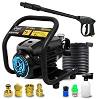 High Pressure Cleaner - Household/Commercial High Pressure Water Gun, Powerful Compact/Full Control Car Wash Pump, 220v,1800w,120Bar