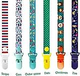 Catenella con Clip per Succhietto, Goldore Baby® Baby Custodia Proteggi Succhietto con Clip, colori assortiti (B 6 pezzi)