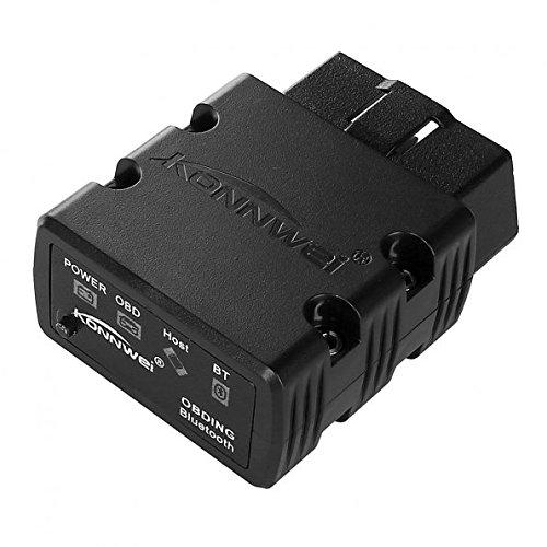 KONNWEI KW902-Black Mini Bluetooth2.1 OBDII Auto Diagnose Scan-Tools für Android, Schwarz (1 Scan-tool)