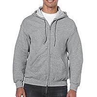 Gildan Men's Fleece Zip Hooded Sweatshirt Sport Grey Large